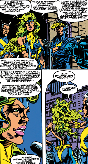 Polaris page 4 of 11 uncannyxmen when she and alex were insulted by mutant haters in a restaurant and arrested for taking part in the following riot lorna made a hearty publicscrutiny Choice Image