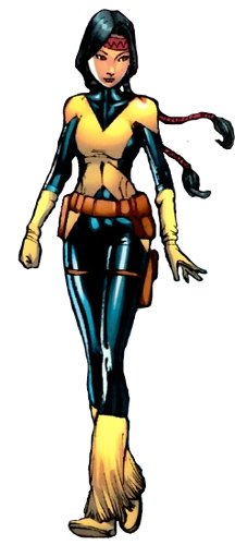 9 As A Mentor To The Young X Men Dani Began Wearing Version Of Cyclops Black Bodysuit With Yellow Lines Running Down Front 6